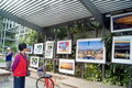 The gulf of shenzhen photography exhibition in china november rd to attract people to visit Royalty Free Stock Photo