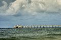 Gulf Shores AL Fishing Pier Royalty Free Stock Photo