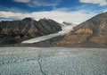 Gull glacier of ellesmere island looking across tanquary fiord on one can see the Royalty Free Stock Photo