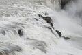 Gullfoss (Golden Falls) waterfall - Golden Circle - Iceland Royalty Free Stock Photo