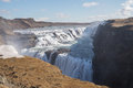 Gullfoss waterfall, Iceland Royalty Free Stock Photo