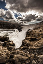 Gullfoss waterfall iceland in southern Royalty Free Stock Photography