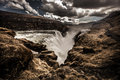 Gullfoss waterfall iceland in southern Royalty Free Stock Photo