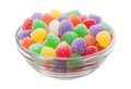Gum Drops Isolated with a clipping path Stock Image