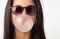 Gum Girl Royalty Free Stock Photo