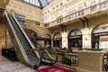 Gum moscow may escalator in the main universal store on may in moscow is the large store in the kitai gorod part of moscow Royalty Free Stock Images