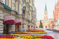 GUM shopping mall near Red Square in Moscow, Russia Royalty Free Stock Photo