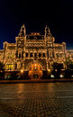Gum state department store on red square moscow russia facade of the a famous shop s illuminated at night Royalty Free Stock Images