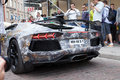 Gumball car tallinn estonia may lamborghini aventador super sports at race is a charity race founded at participants Royalty Free Stock Photos