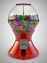 Gumball machine a render of colorful red Royalty Free Stock Photos