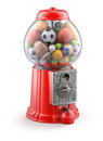 Gumball machine with sport balls d concept Stock Image