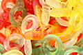 Gummi candies unhealthy bright colors Royalty Free Stock Photos