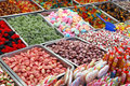 Gummi candy collection of colorful gummy candies at market Royalty Free Stock Photography