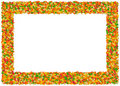 Gummy bears Frame. From The Fo Royalty Free Stock Photos