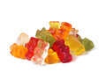 Gummy bears many colorful candy Stock Photography