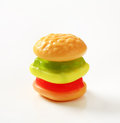 Gummy burger Royalty Free Stock Photo