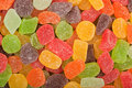Gummy candy background closeup of lots of Royalty Free Stock Images