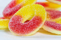 Gummy candy with sugar closeup Stock Photo