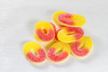 Gummy candy with sugar closeup Stock Image