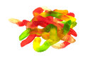 Gummy worms on a white background Royalty Free Stock Photo