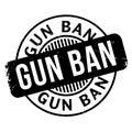 Gun Ban rubber stamp