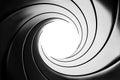 Gun barrel effect - a classic James Bond 007 theme Royalty Free Stock Photo