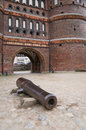 Gun barrel by the Holsten Gate Royalty Free Stock Photo