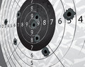 Gun bullet`s holes Royalty Free Stock Photography