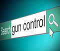 Gun control concept illustration depicting a screen shot of an internet search bar containing a Royalty Free Stock Images