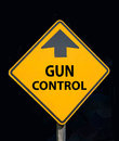 Gun control debate sign this is a related to the national on Royalty Free Stock Image