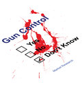Gun control questionnaire Stock Image