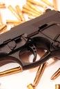 Gun crime Royalty Free Stock Photo