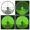 Gun crosshair sight Royalty Free Stock Photo