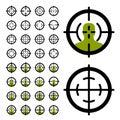 Gun crosshair sight symbols Royalty Free Stock Photo