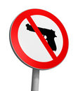 Gun Free Zone Royalty Free Stock Photo