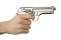 Gun in the hand Royalty Free Stock Image