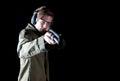 Gun man Royalty Free Stock Photo