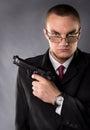 Gun mannen Arkivfoto