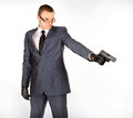 Gun mannen Arkivbild