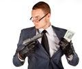 Gun mannen Arkivbilder