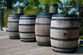 Gun Powder Barrels Royalty Free Stock Photography