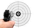 Gun shooting target