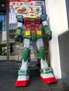 Gundam statue is a transformer character popular in japan Royalty Free Stock Image