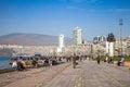 Gundogdu meydani纪念碑,伊兹密尔,土耳其 免版税库存照片