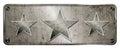 Gunge chrome 3 star banner Royalty Free Stock Photo