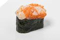 Gunkan sushi with scallop. Royalty Free Stock Photo