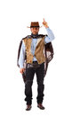 Gunman in the old wild west on white background Stock Photos