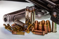 Guns and Ammunition Royalty Free Stock Photo