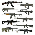 Guns guns guns Stock Image