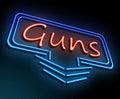 Guns neon concept.